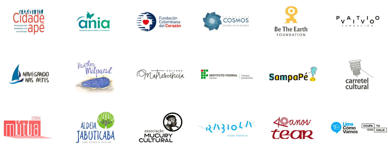 logos de parceiros que fazem parte da Rede de Impacto